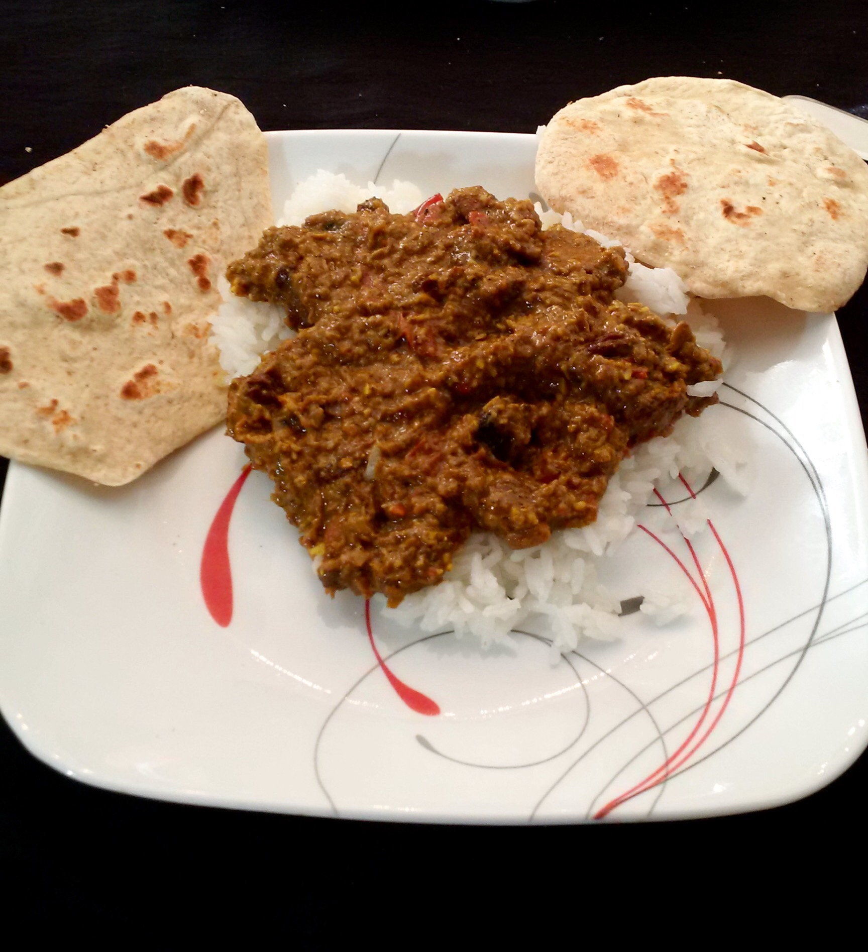 Nutrition for runners chicken korma and homemade naan the courage it was the first attempt to make indian food in our house if you are interested in trying these recipes you can find the chicken korma forumfinder Image collections